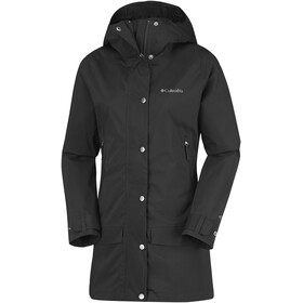 Columbia Rainy Creek Trench Coat Women Black